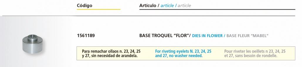 """Base Troquel Mabel """"Flor"""" - Medidas"""